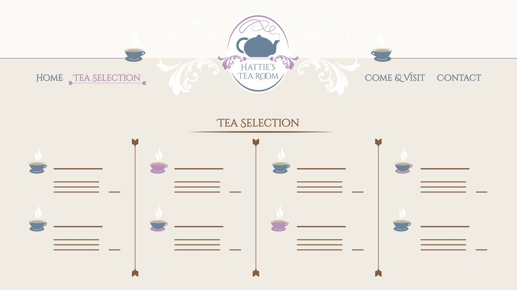 Home Tea Selection Tea Selection Come & Visit C...