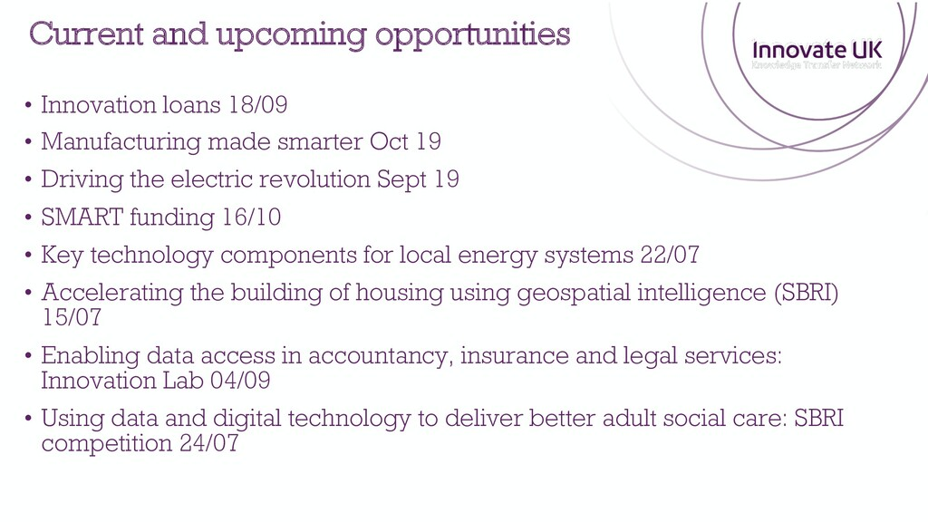 • Innovation loans 18/09 • Manufacturing made s...