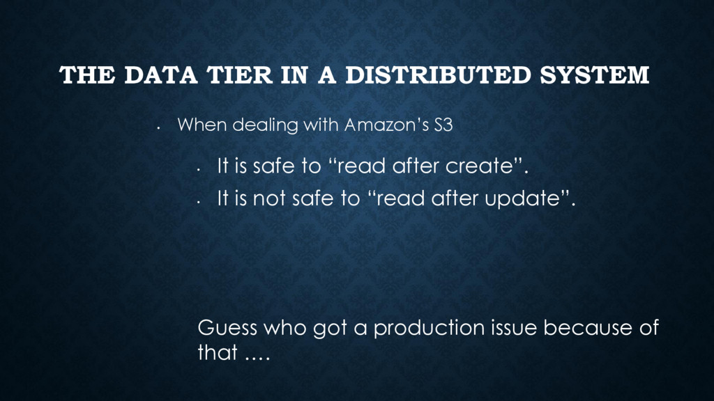 THE DATA TIER IN A DISTRIBUTED SYSTEM • When de...