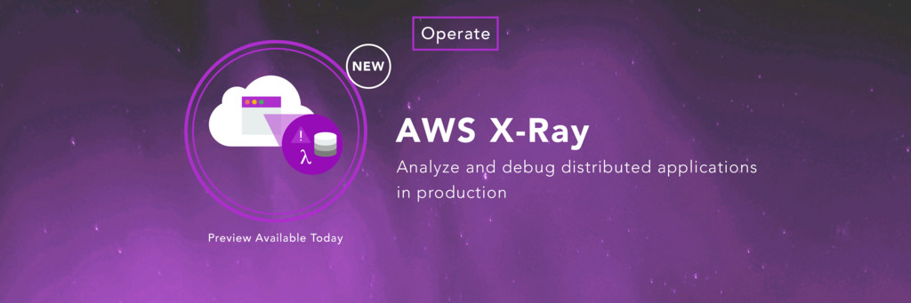 AWS X-Ray NEW Operate Analyze and debug distrib...
