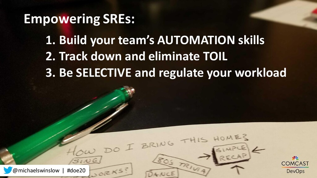 1. Build your team's AUTOMATION skills 2. Track...