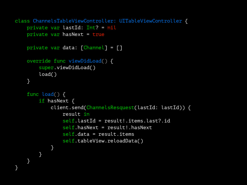 class ChannelsTableViewController: UITableViewC...