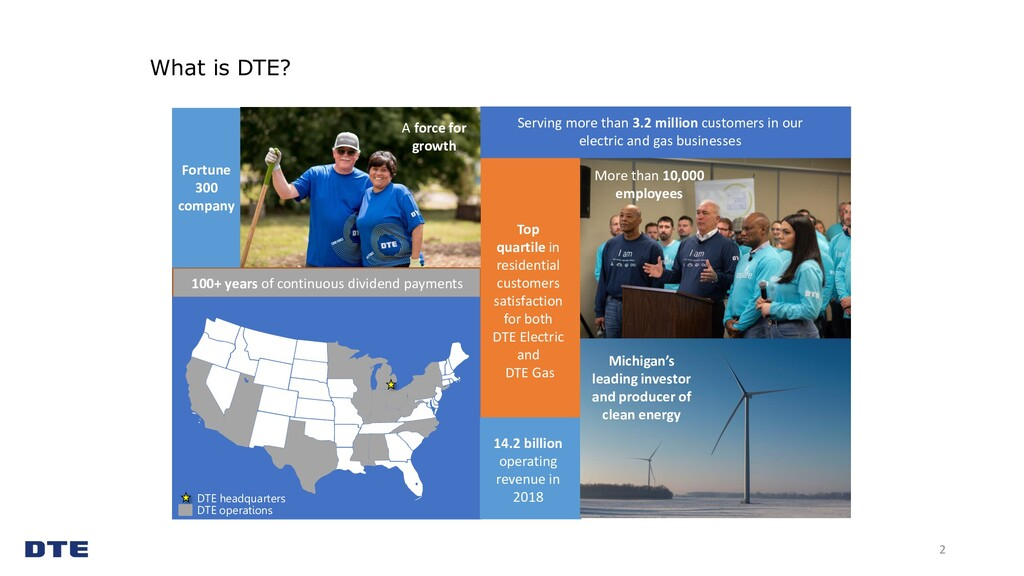 2 DTE headquarters DTE operations 14.2 billion ...