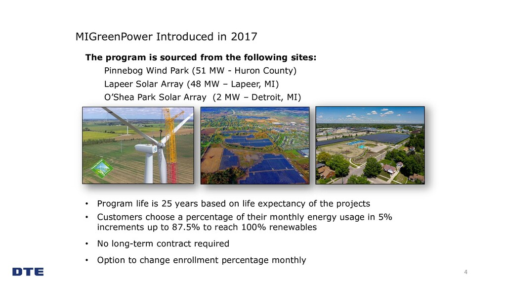 MIGreenPower Introduced in 2017 4 The program i...