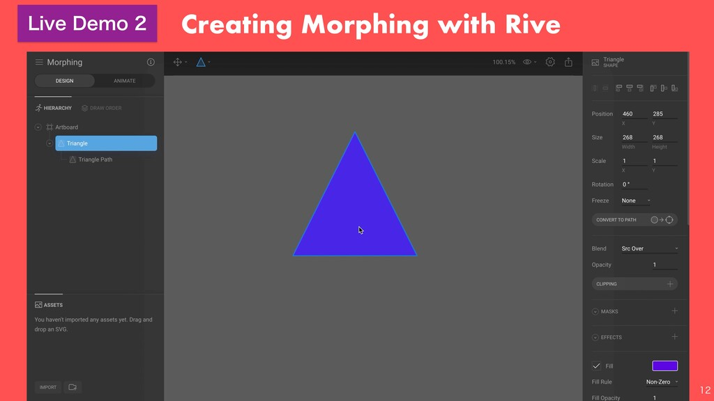 Creating Morphing with Rive  -JWF%FNP
