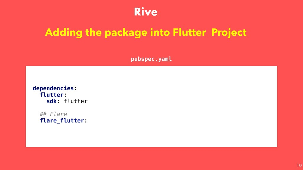 Adding the package into Flutter Project depe...