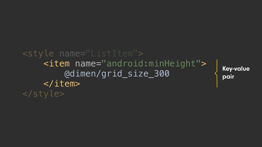 "<style name=""ListItem""> <item name=""android:min..."