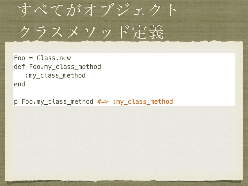 ͕ͯ͢ΦϒδΣΫτ Ϋϥεϝιουఆٛ Foo = Class.new def Foo.my...