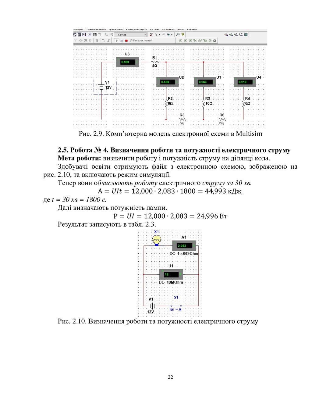 22 Рис. 2.9. Комп'ютерна модель електронної схе...