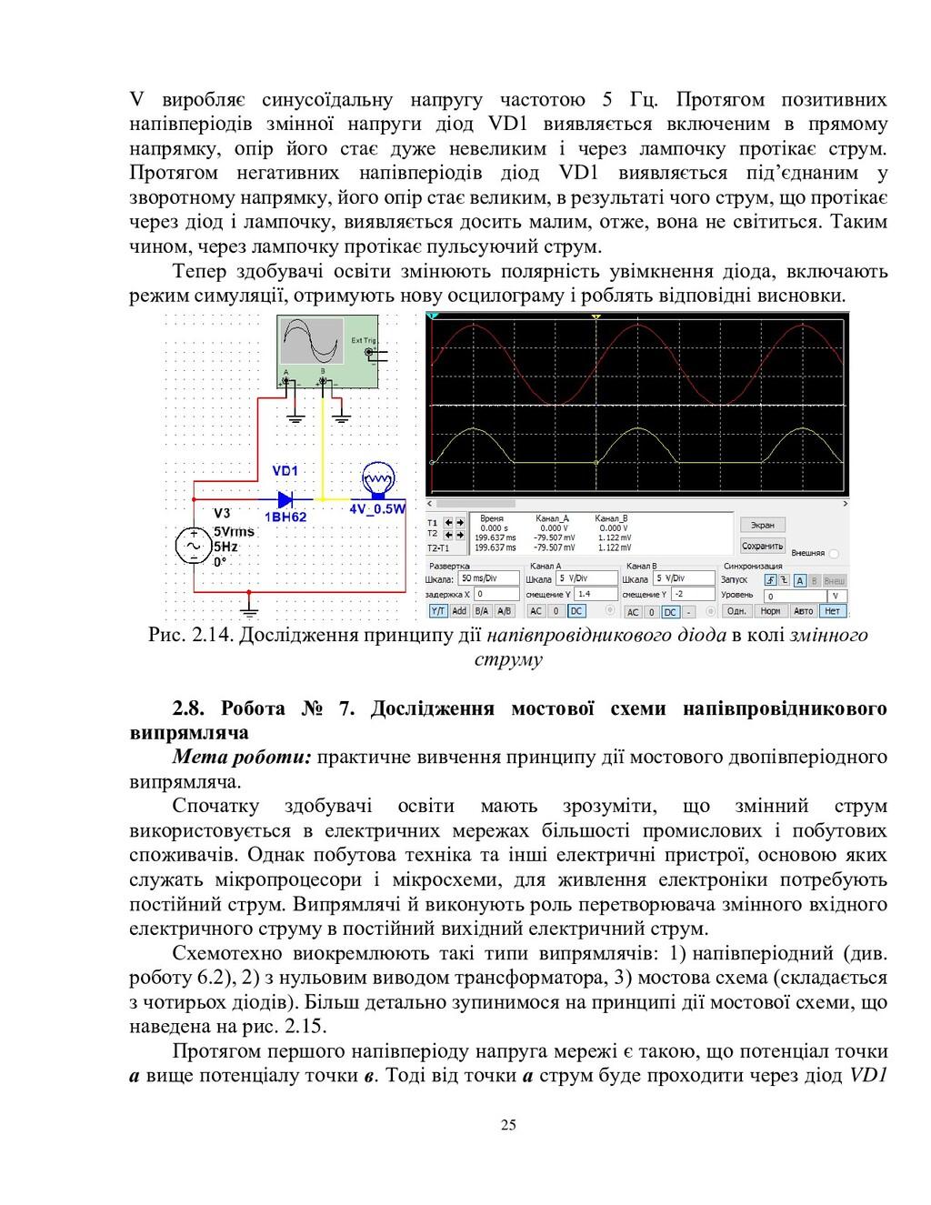 25 V виробляє синусоїдальну напругу частотою 5 ...