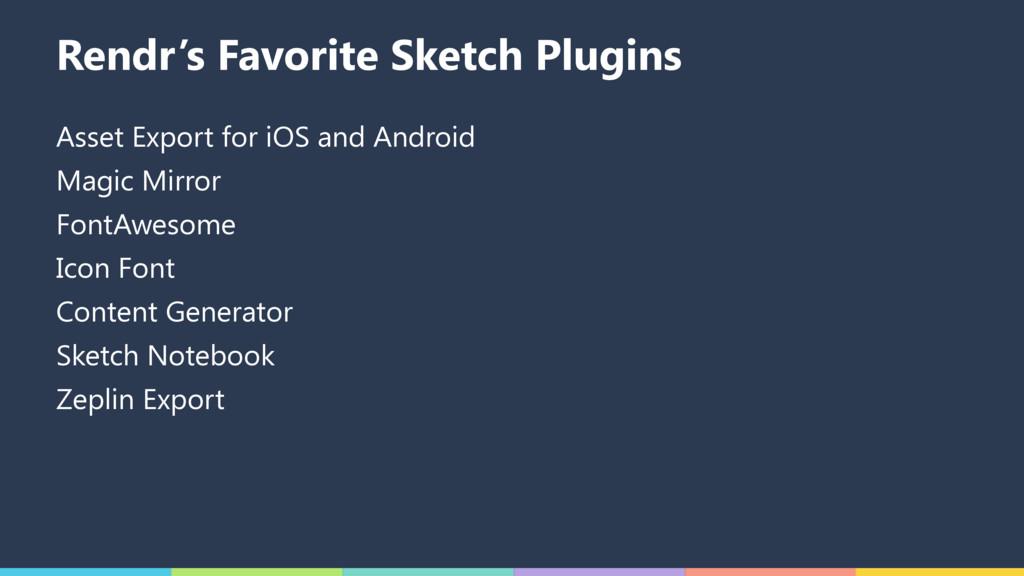 Rendr's Favorite Sketch Plugins Asset Export fo...