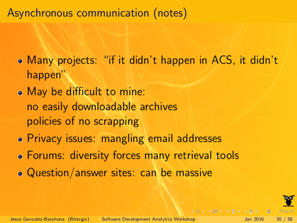 Asynchronous communication (notes) Many project...