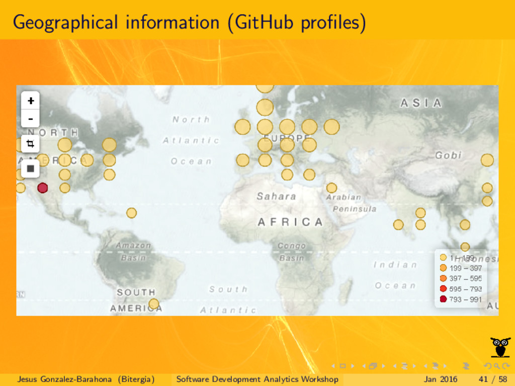 Geographical information (GitHub profiles) Jesus...