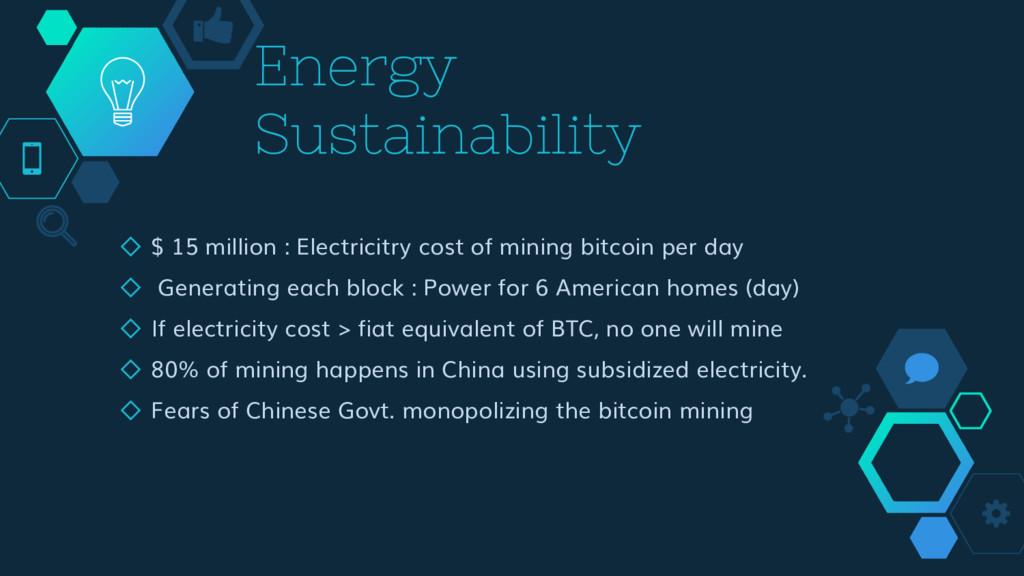 Energy Sustainability ◇ $ 15 million : Electric...