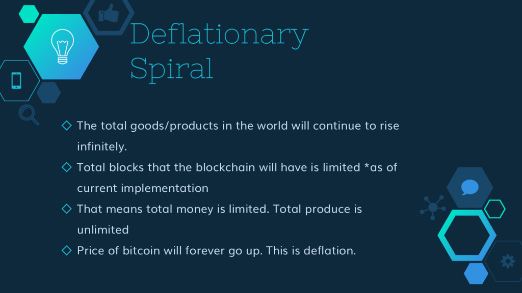 Deflationary Spiral ◇ The total goods/products ...