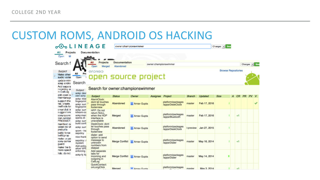 COLLEGE 2ND YEAR CUSTOM ROMS, ANDROID OS HACKING