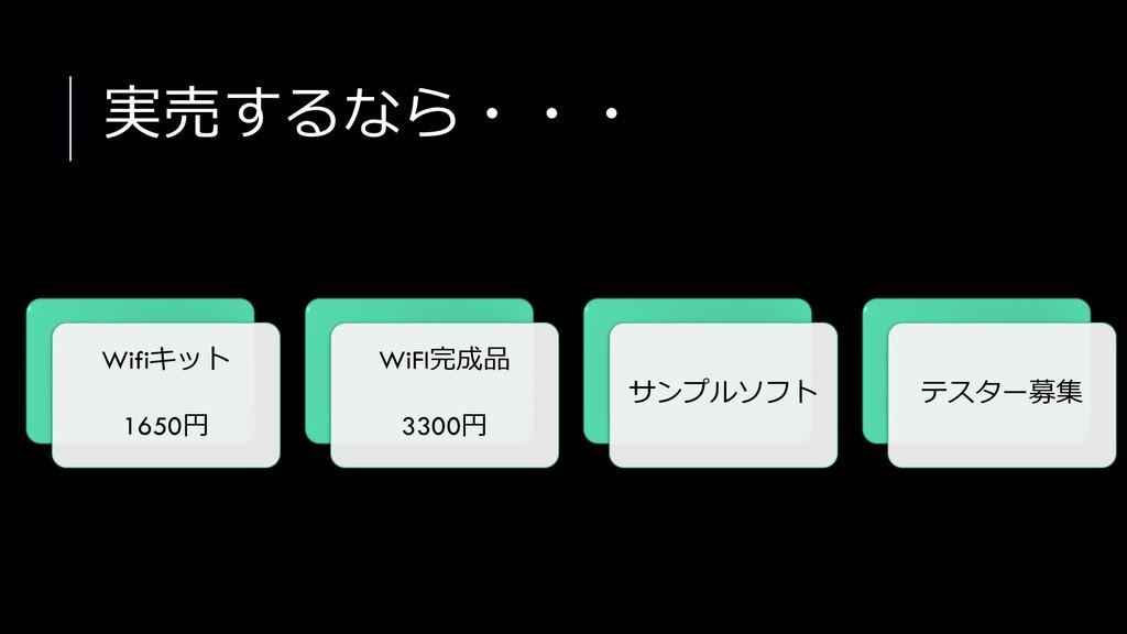 実売するなら・・・ Wifiキット 1650円 WiFI完成品 3300円 サンプルソフト テ...