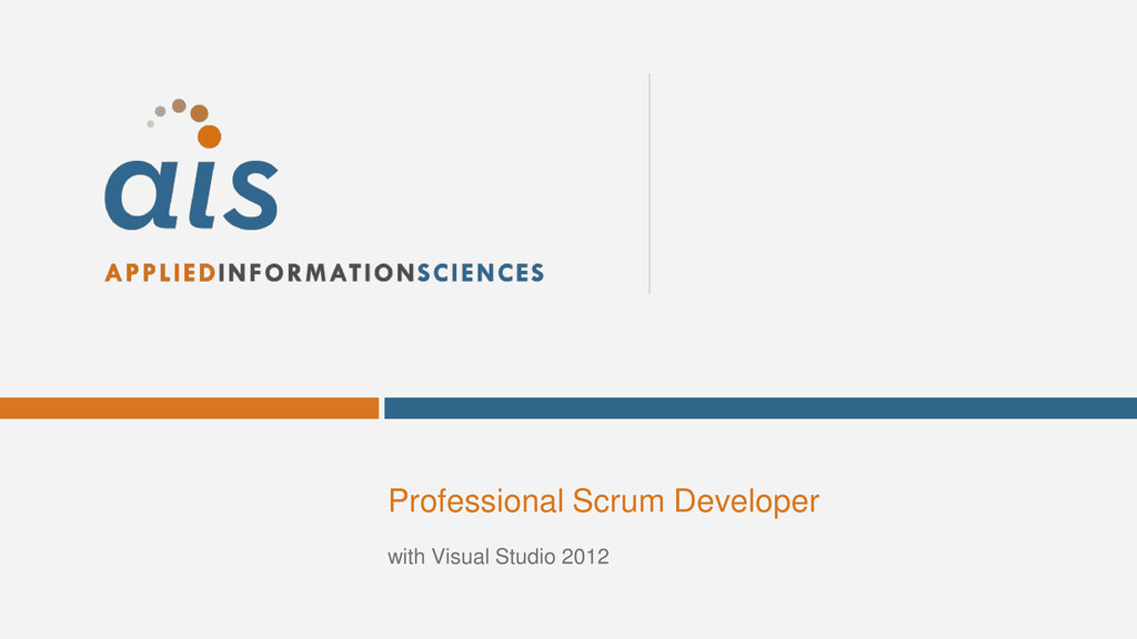 Professional Scrum Developer with Visual Studio...