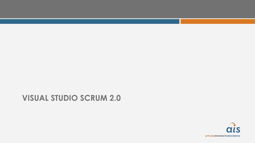 VISUAL STUDIO SCRUM 2.0