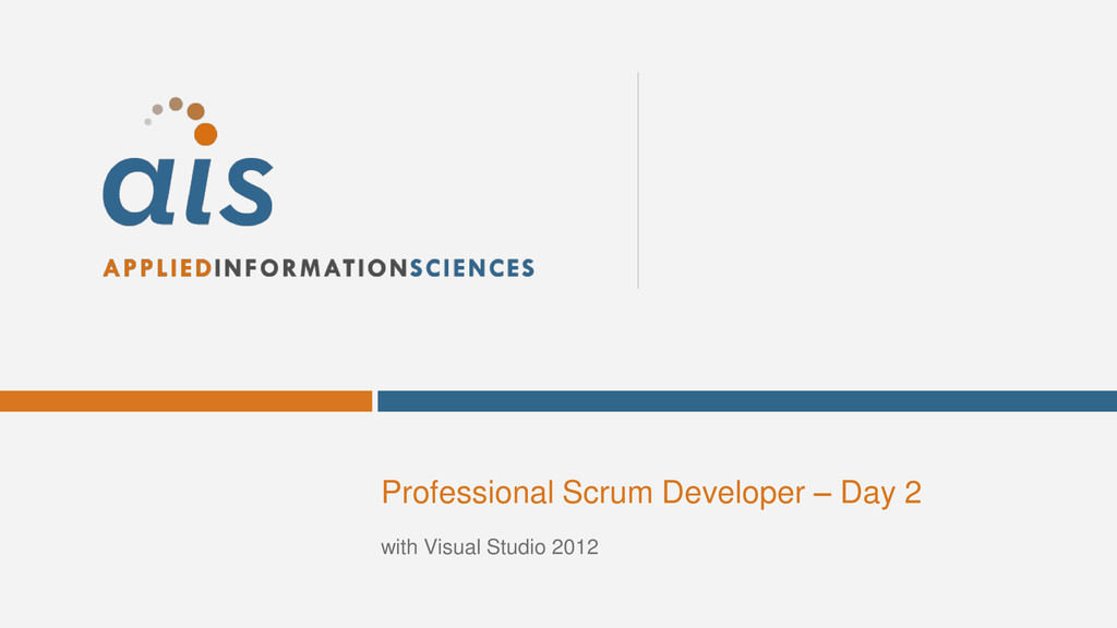 Professional Scrum Developer – Day 2 with Visua...