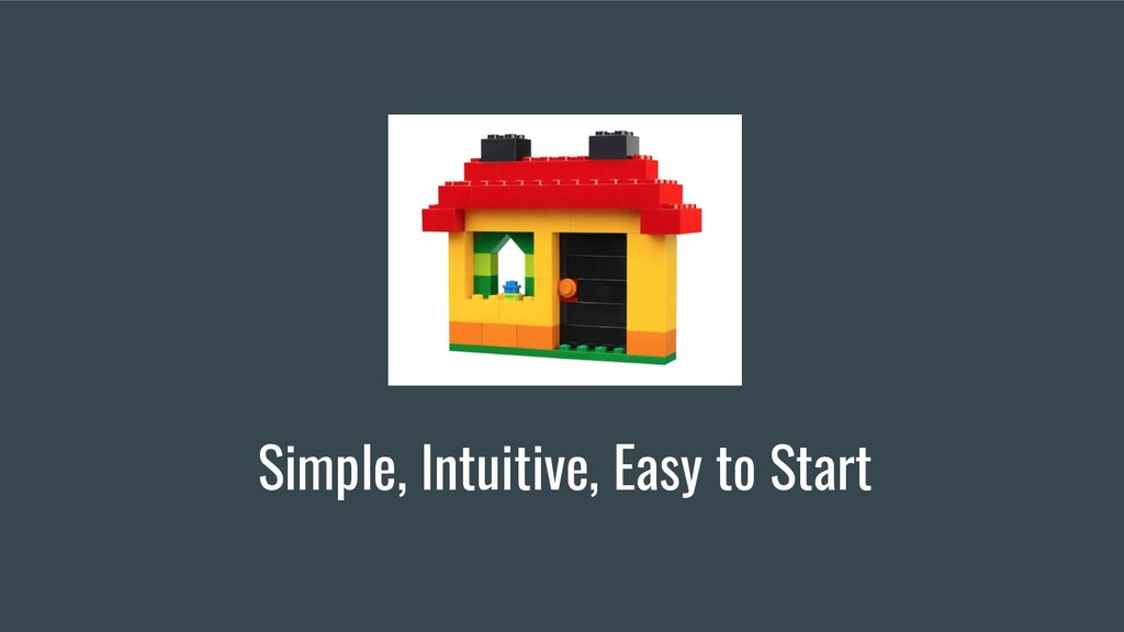 Simple, Intuitive, Easy to Start