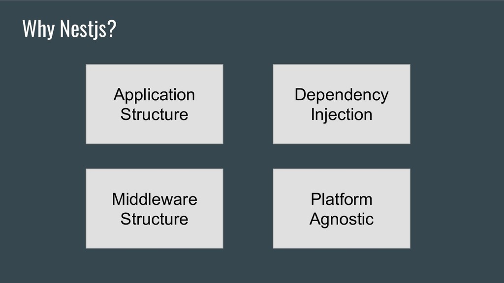 Why Nestjs? Application Structure Dependency In...