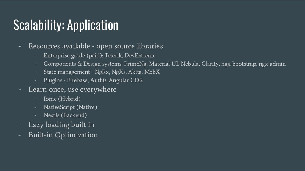 Scalability: Application - Resources available ...