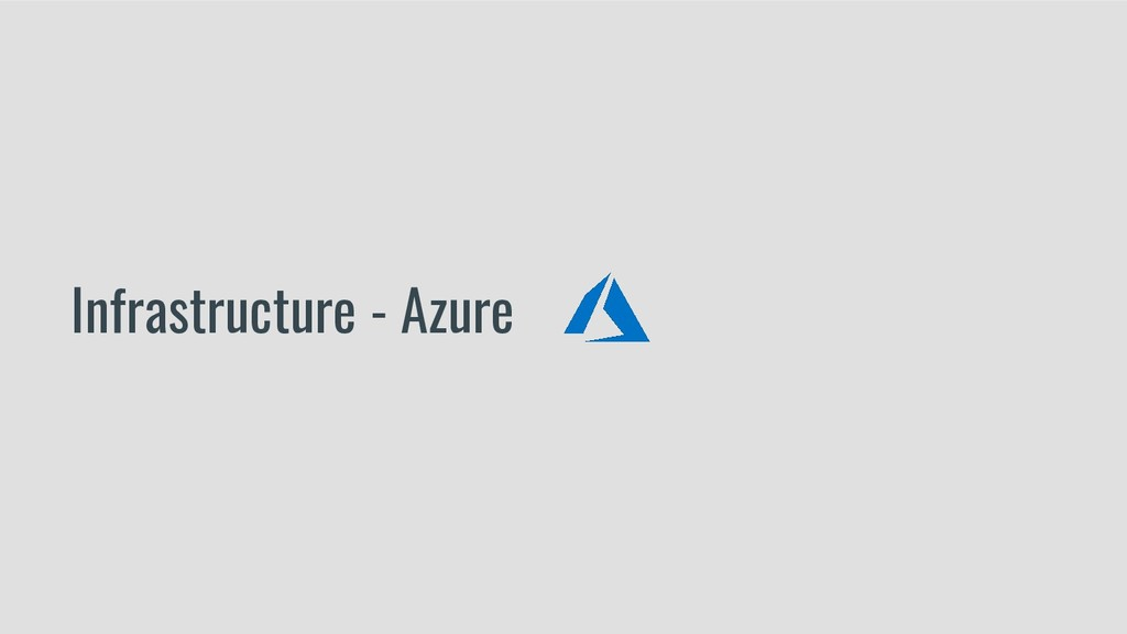 Infrastructure - Azure
