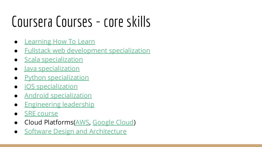 Coursera Courses - core skills ● Learning How T...