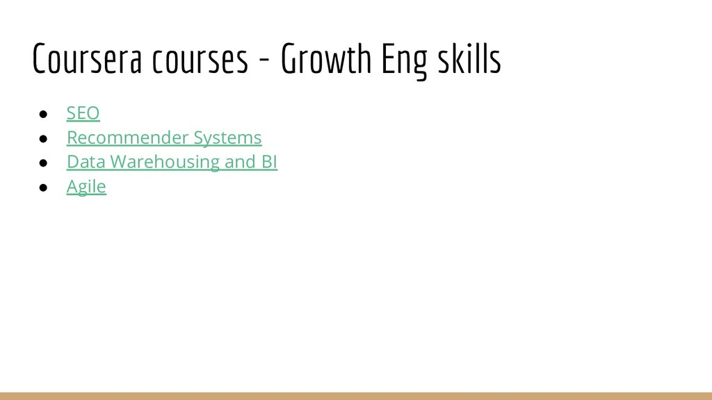 Coursera courses - Growth Eng skills ● SEO ● Re...