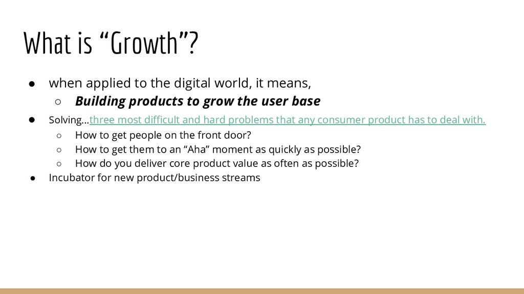 "What is ""Growth""? ● when applied to the digital..."
