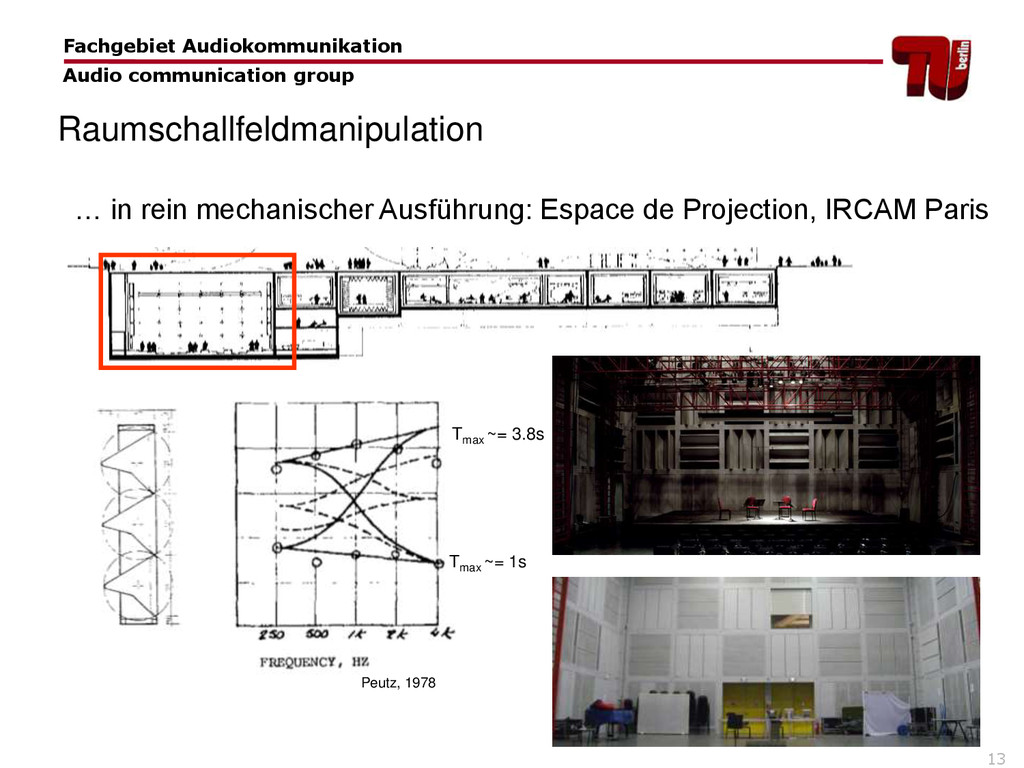 13 … in rein mechanischer Ausführung: Espace de...