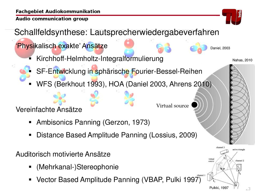 23 'Physikalisch exakte' Ansätze  Kirchhoff-He...