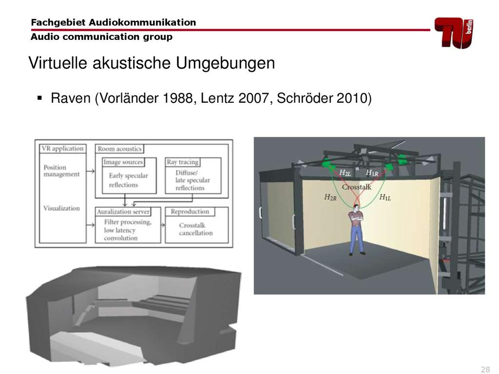 28 Fachgebiet Audiokommunikation Audio communic...