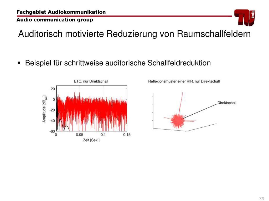 39 Fachgebiet Audiokommunikation Audio communic...