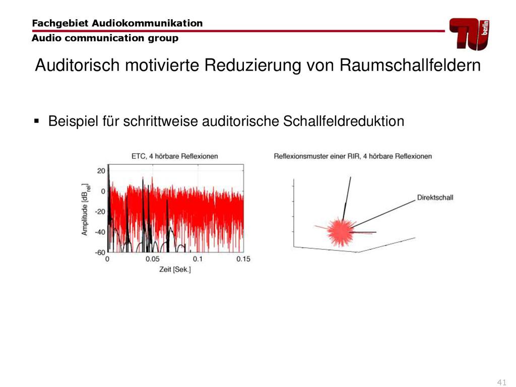 41 Fachgebiet Audiokommunikation Audio communic...