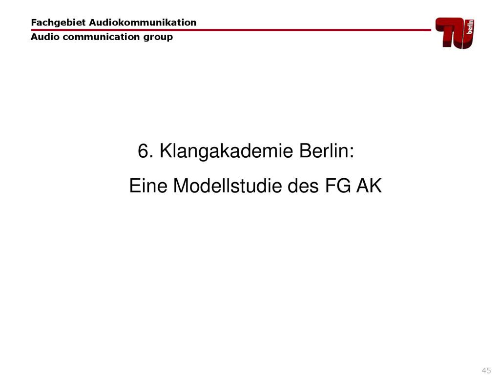 45 6. Klangakademie Berlin: Eine Modellstudie d...
