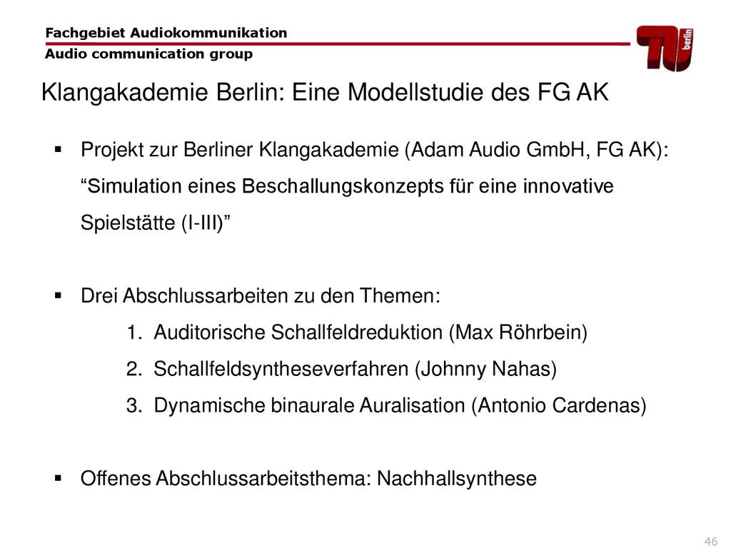 46  Projekt zur Berliner Klangakademie (Adam A...