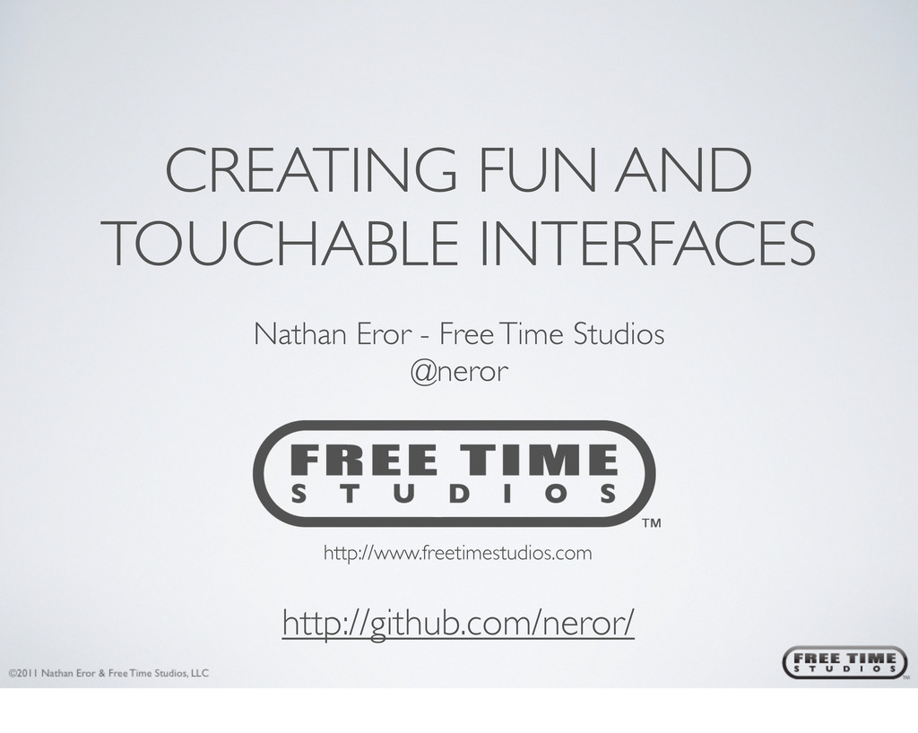CREATING FUN AND TOUCHABLE INTERFACES http://ww...