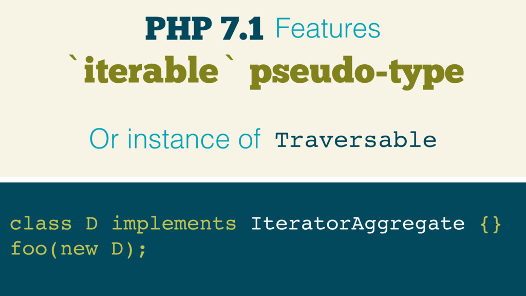 `iterable` pseudo-type class D implements Itera...