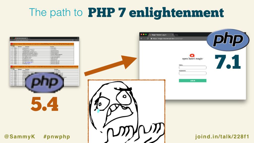 joind.in/talk/228f1 @SammyK #pnwphp 7.1 5.4 PHP...