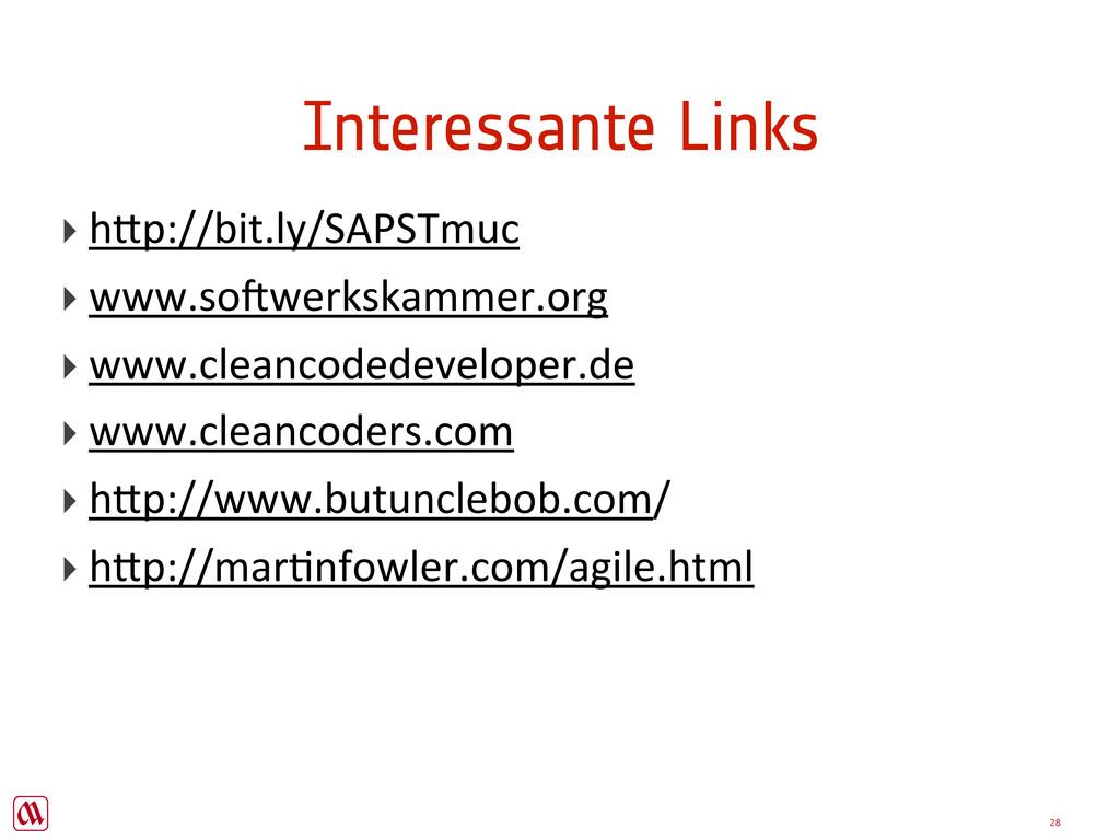 "28 Interessante Links ‣ h""p://bit.ly/SAPSTmuc ‣..."