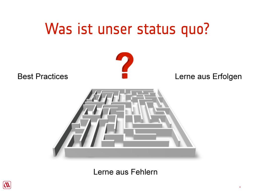 4 Was ist unser status quo? Best Practices Lern...