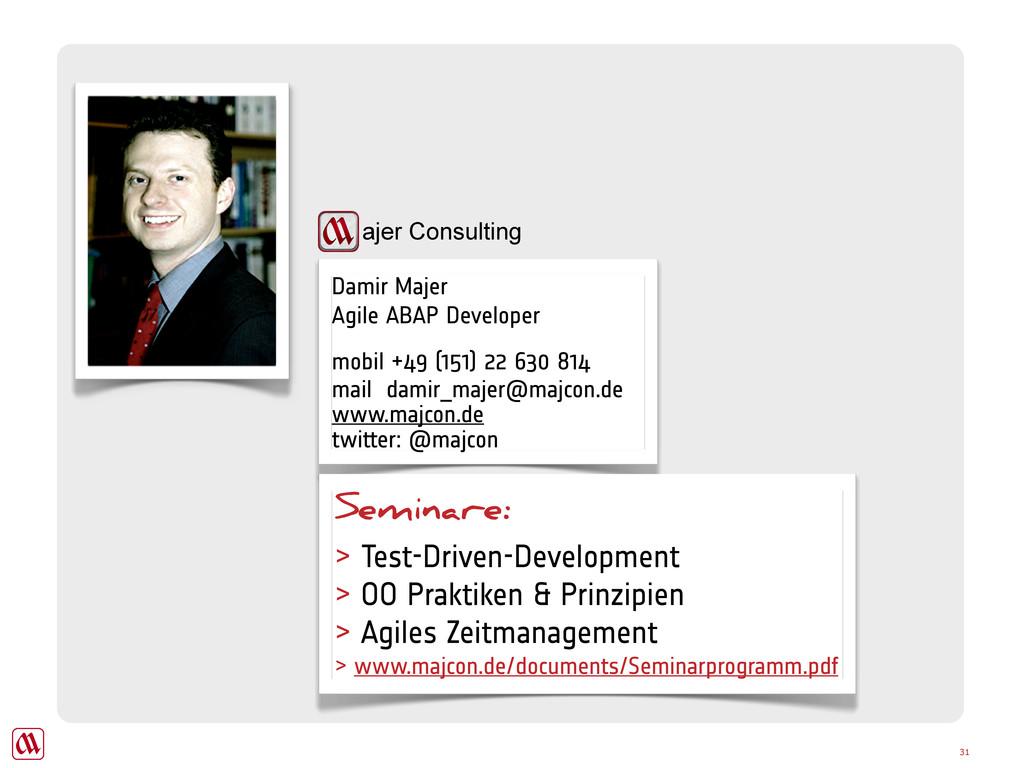 Damir Majer Agile ABAP Developer mobil +49 (151...
