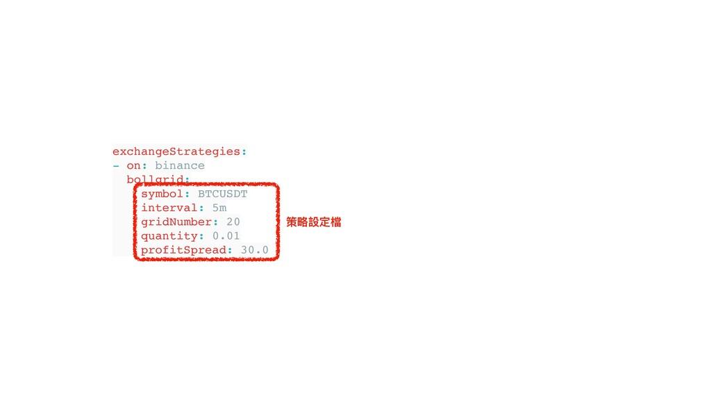 exchangeStrategies: - on: binance bollgrid: sym...