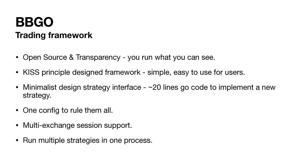 BBGO Trading framework • Open Source & Transpar...