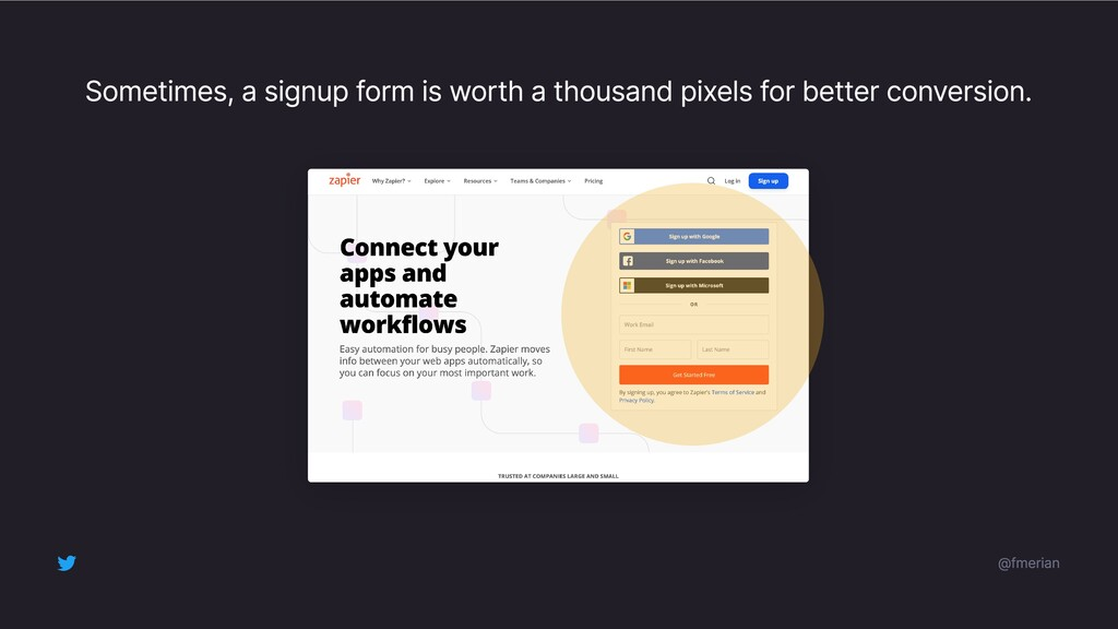 Sometimes, a signup form is worth a thousand pi...