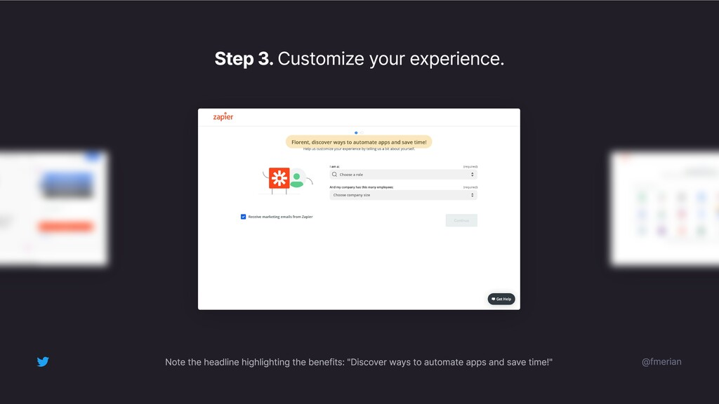 Step 3. Customize your experience. @fmerian Not...
