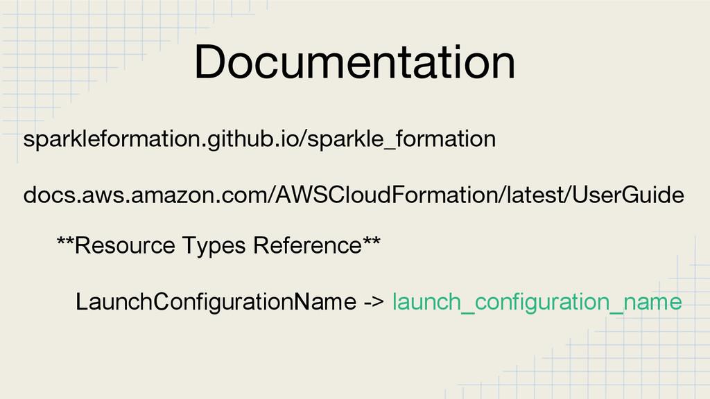 Documentation sparkleformation.github.io/sparkl...