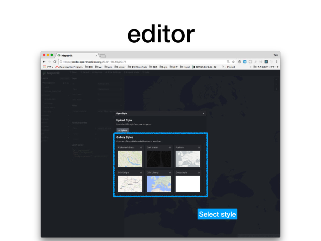 editor 54 Select style